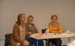 De drie vertellers op een rij: Christine, Joske en Rita