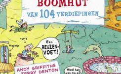 Cover van het boek 'Waanzinnige boomhut van 104 verdiepingen'