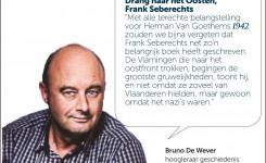 Artikel uit De Morgen waarin historicus Bruno De Wever het boek 'Drang naar het Oosten' van Frank Seberechts aanbeveelt