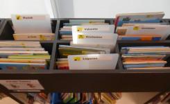 Foto van enkele baken met peuter- & kleuterboeken