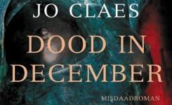 Fragment van het voorplat van het boek 'De dood in december' van Jo Claes