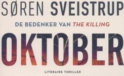 Fragment van het voorplat van het boek 'Oktober' van Soren Sveistrup