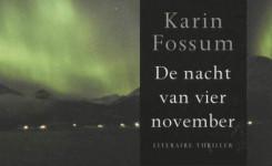 fragment van het voorplat van het boek 'De nacht van 4 november' van Karin Fossum
