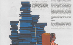 Schermafdruk van het krantenartikel 'Waarom jongeren minder lezen'