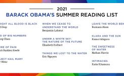 Schermafdruk van de zomerleeslijst van voormalig president Barack Obama