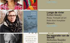 Schermafdruk van de website van de Europese Litertuurprijs 2021 met een overzicht van de boeken die op de shortlist staan