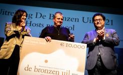 Foto van de prijsuitreiking van de Bronzen Uil