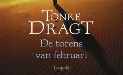 Fragment van het voorplat van het boek 'De torens van februari' van Tonke Dragt