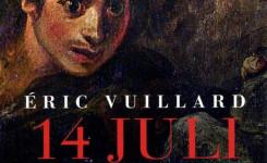 Fragment van het voorplat van het boek '14 juli' van Eric Vuillard
