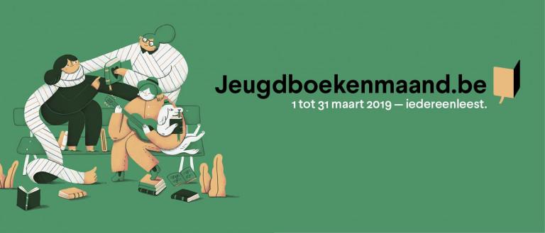 Het logo van de Jeugdboekenmaand 2019