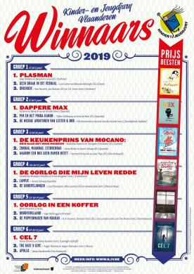 Affiche met de winnaars van de Kinder- en Jeugdjury Vlaanderen 2019