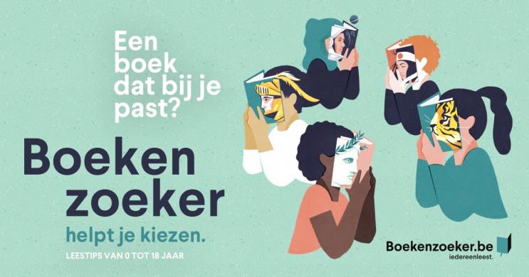 Logo van de website Boekenzoeker.be