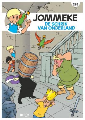 """Voorplat van de strip """"De schrik van Onderland"""" in de Jommeke-reeks."""