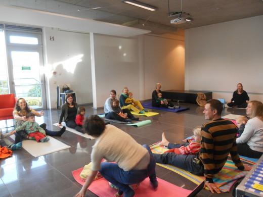 Foto van de workshop kleuteryoga