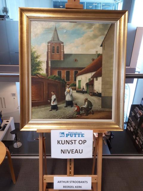 Foto van het kunstwerk van de maand: een schilderij van Arthur Stroobants