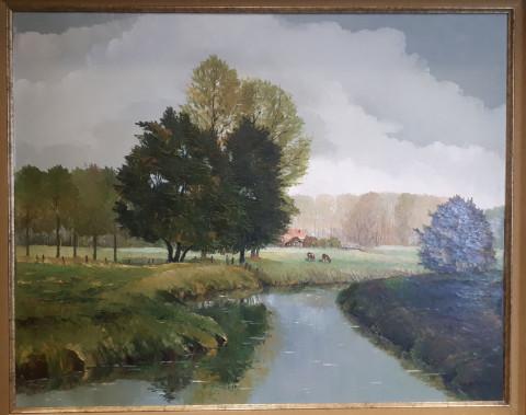 Foto van een landschapsschilderij van Pol Anthonis